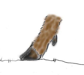 イノシシの足