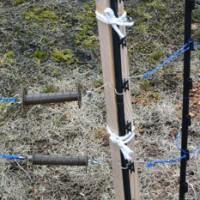 電気柵ゲート部分の補強
