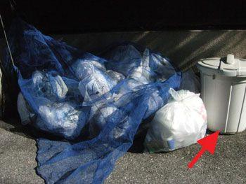 ゴミ対策ポリバケツ