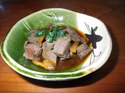 シカ肉レシピ_レバー煮込み