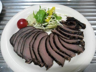シカ肉燻製_酒の肴画像
