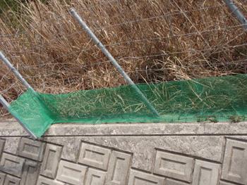 フェンス下の侵入防止