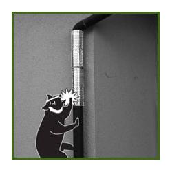 有刺鉄板でハクビシンの侵入を防ぐ