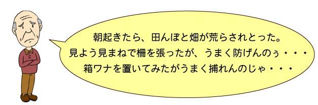 動物被害_おじいちゃん